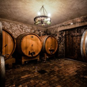 wine cellar of massimago in mezzane's valley
