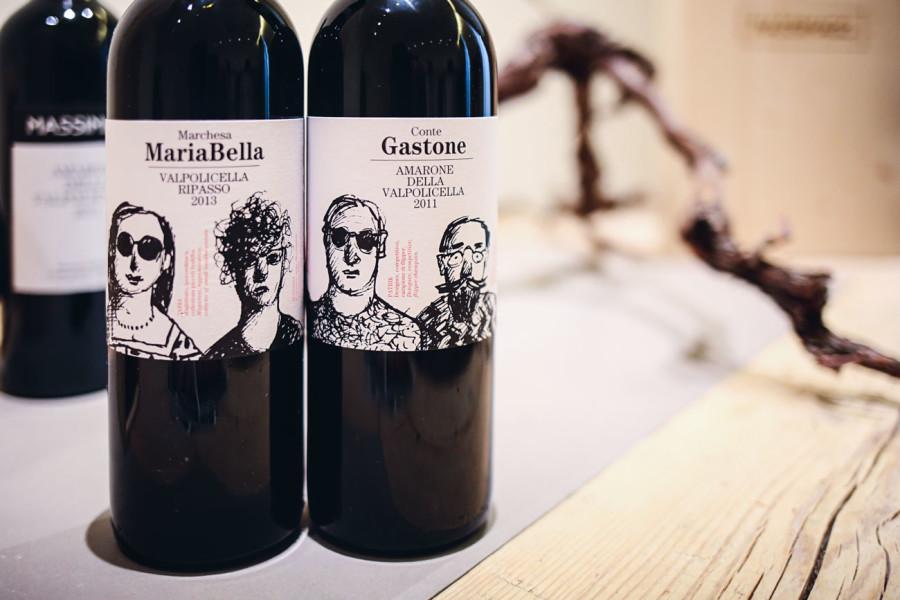 foto del vino marchesa mariabella valpolicella ripasso e del vino conte gastone amarone della valpolicella