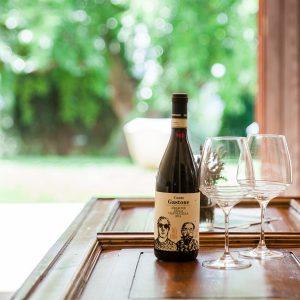 gastone bottle details inside the massimago wine relais