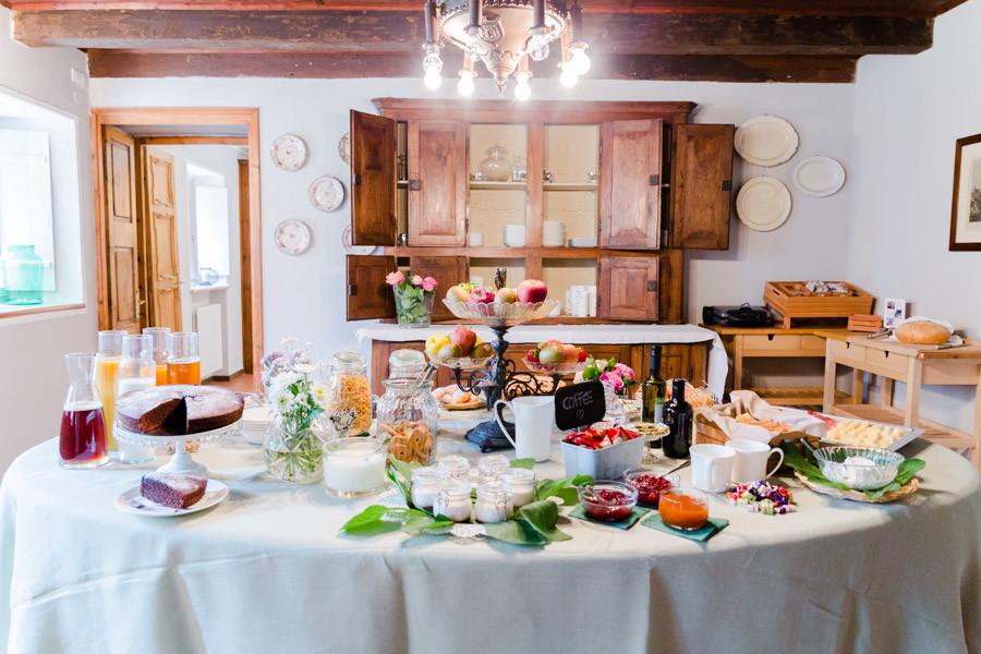 rich breakfast in massimago wine relais