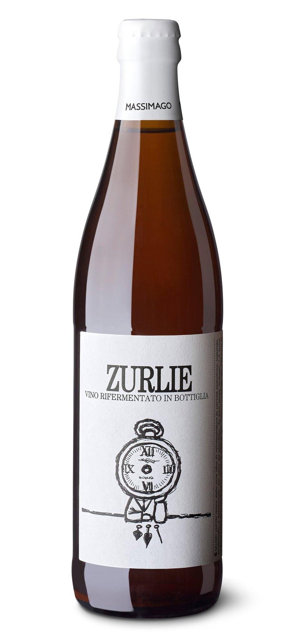 Bottiglia di Massimago Zurlie vino rifermentato in bottiglia