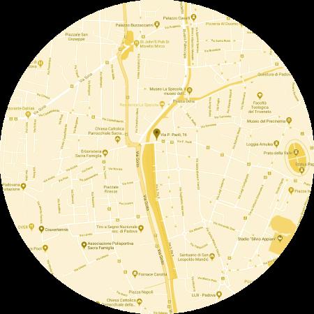 Mappa di Massimago Wine Tower a Padova